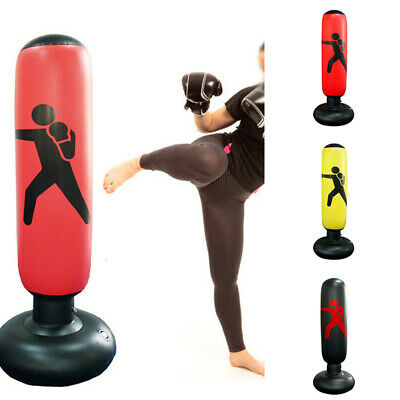 1.6M Inflatable Training Fitness Boxing Punching Bag Tumbler Pressure Relief