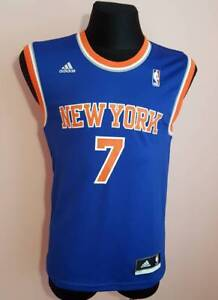 new product 14f8d fab2b Details about New York Knicks Men's small #7 'Anthony' Replica Jersey NBA  adidas XS