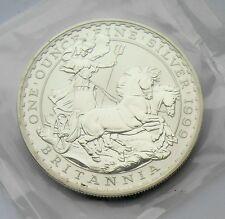 Elizabeth II 1999 Two Pounds Britannia One Ounce Fine Silver BU mint sealed