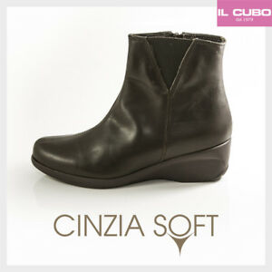 CINZIA-SOFT-STIVALETTO-DONNA-PELLE-COLORE-T-DI-MORO-ZEPPA-H-4-5-CM-MADE-IN-ITALY