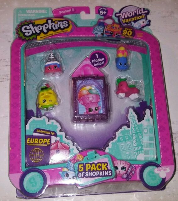 Shopkins World Vacation (Europe) - 5 Pack Collection Season 8