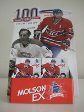 Montreal Canadiens 2008 - 2009 Rare Centennial Schedule Display + 20 Schedules