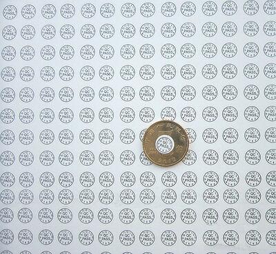 QC PASSED Stickers 540pcs Blue Font Roundl Fragile Label Shredded Warranty Label