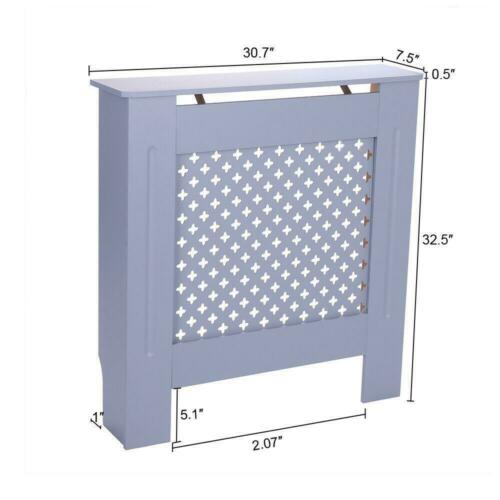 Grey Radiator Cover Cabinet Painted Wood Heaters Protectors Storage Furniture