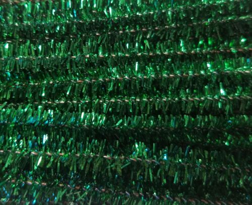 100 pcs 12 Wired Pipe Cleaners Christmas Tinsel Chenille Stems