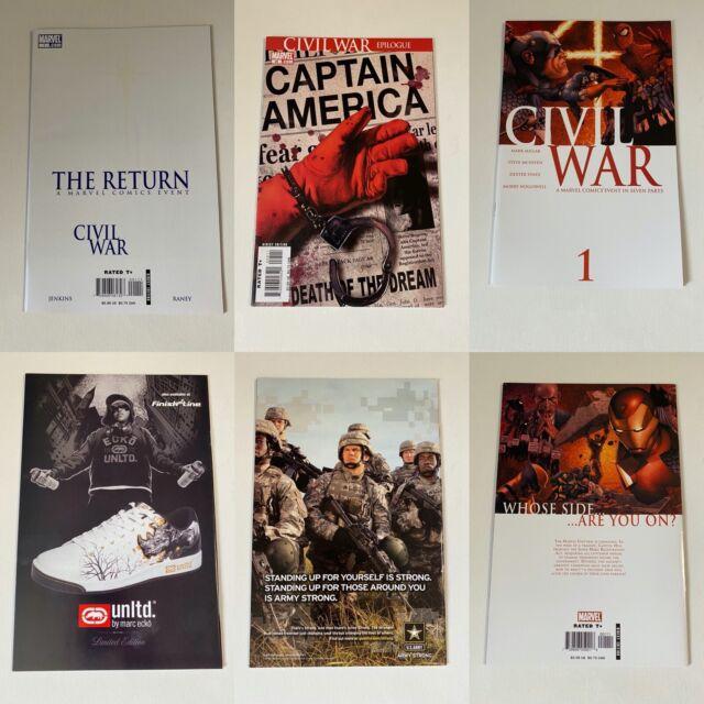 Avengers Civil War LOT. 1-7, Initiative, Epilogue, Opening shot.