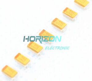 50PCS-1206-SMD-tantalum-capacitor-16V-10UF-106-10-3216-A-type-NEW