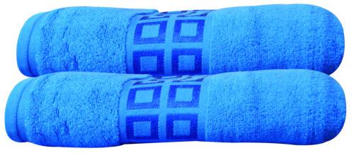 Best Quality 100/% Zero Twist Cotton Super Absorbent Soft Bath Towel Set 2 Piece