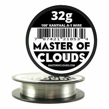100 ft - 32 Gauge AWG A1 Kanthal Round Wire 0.20 mm Resistance A-1 32g GA 100'