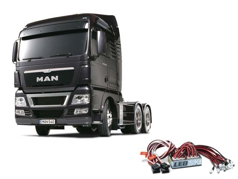Tamiya camión MAN TGX 26.540 Gun Metal Edition 56346led + LED-lichtset  56346led Edition 7ed3f9