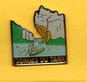 pin-039-s-lapel-pin-pins-Ville-TOURISME-GORGES-DU-TARN-Embarcation-Canoe-Barque