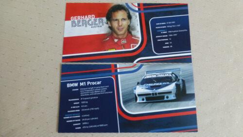 Autogrammkarte BMW M1 Procar GERHARD BERGER