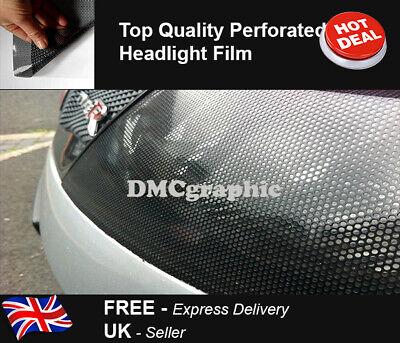 Fly Eye Black Perforated Mesh Film Car Tint Car Light Headlight Vinyl Wrap Film