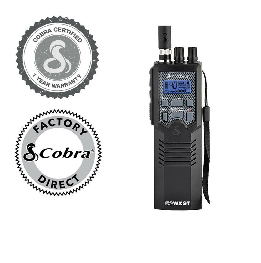 HH50WXST FR cobraelectronics Cobra HH 50 WX ST (Refurbished) Professional Portable Handheld CB Radio