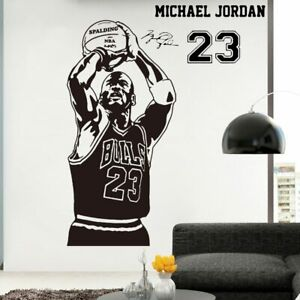 Details About Basketball The Shoot 23 Michael Jordan Wallpaper Home Decoration Wall Sticker