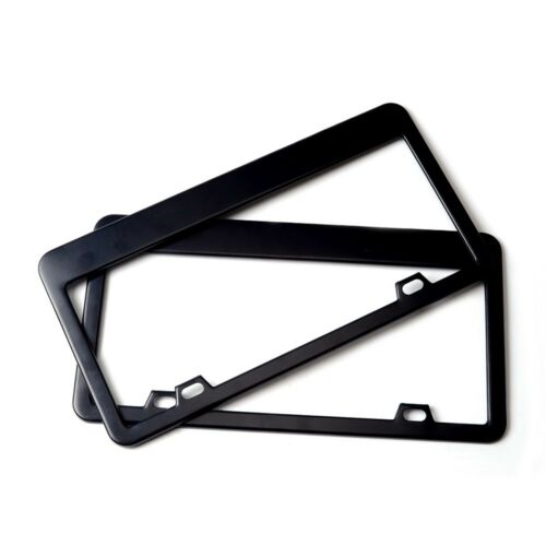 Stainless Steel Car Licence Plate Covers 2PCS for US Black License Plate Frames