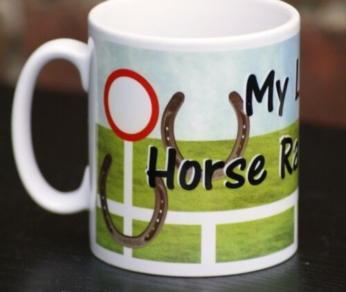-0 Great Gift for horse lovers Dishwasher Safe My Lucky Horse Racing 11oz Mug