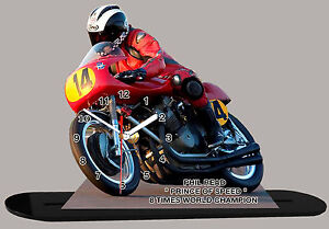HONDA FREDDY SPENCER MOTO MINIATURE 01 MOTO GP EN HORLOGE