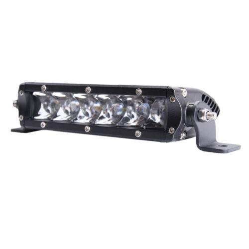 "2X 7/"" 30W 3D Lens Single Row Led Light Bar Spot Fog Offroad Driving Lamp 36W 8/"""