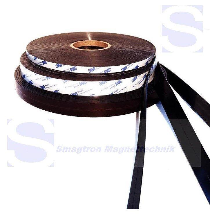 Magnetband für Fliegengitter selbstklebend Typ A und B 1 5mm x 25 4mm - je 10m