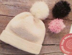 Image is loading Custom-Made-Bobble-Hat-Easy-Knitting-Pattern e986550bbd1