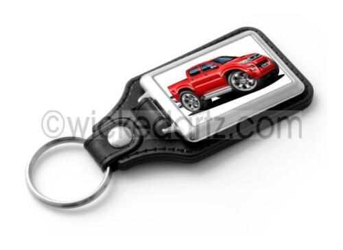 RetroArtz Cartoon Car Toyota HiLux /'Pick Up/' Cab in Red Classic Key Ring