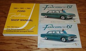 1961-Ford-Falcon-Shop-Service-Manual-and-Sales-Brochure-Lot-61