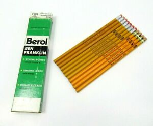 Lot-11-Vintage-Pencils-Ben-Franklin-500-Eaton-039-s-Commercial-180-2-Writing-Berol