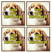 I vostri cani Foto Personalizzata Set di 4 Sottobicchieri-NUOVISSIMA-REGALO / REGALO