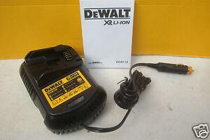 DEWALT DCB119 XR 12V IN CAR LI-ION BATTERY CHARGER 10.8V 14.4V 18V 18VOLT
