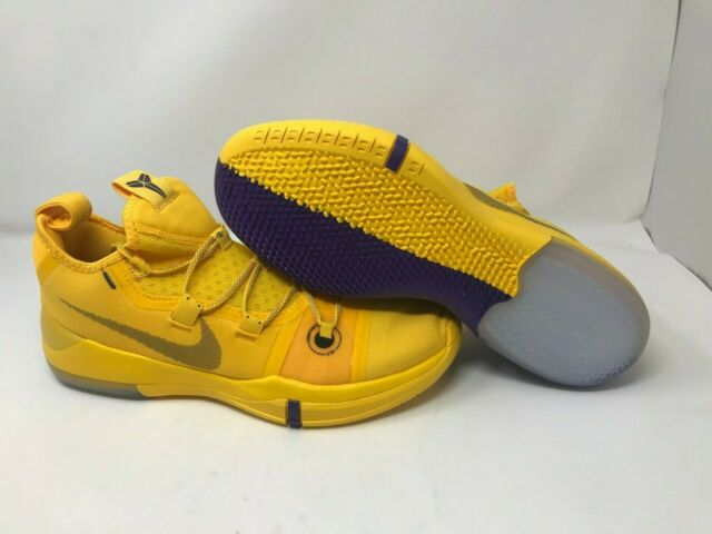 best loved 92b85 5ec1b Nike Kobe AD Lakers Pack Amarillo Ar5515 700 Yellow Purple Men's Sz 13 No  Boxtop