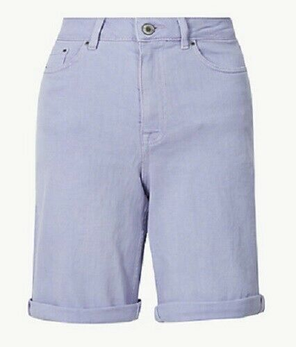 Ex M/&S Denim Shorts Above Knee Stretch 3 Colours Size 8-24 Turn Up UK Summer