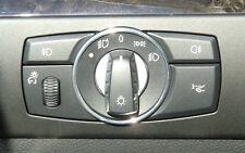(Li) Ring Lichtschalter chrom Aluminium BMW E60, E61 5er LCI ab 03/2007