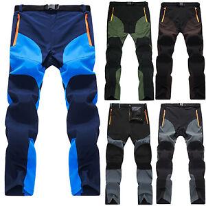 Men Waterproof Cargo Combat Work Pants Tactical Hiking Climbing Trousers Bottoms
