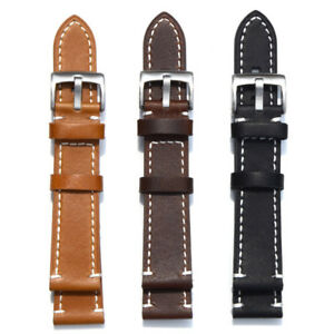 Genuine-Leather-Wristwatch-Band-Mechanical-Replacement-Watch-Strap-18-24mm-New