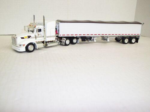 "GM/&D 1//53 Peterbilt 386 W// 48/"" Sleeper Standup W// Semi Grain Trailer"