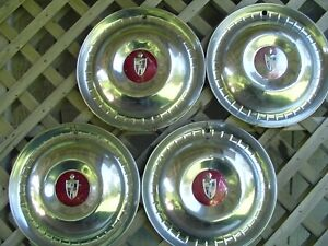 VINTAGE-1952-1953-LINCOLN-MARK-CONTINENTAL-PREMIER-TOWN-CAR-HUBCAPS-WHEEL-COVER