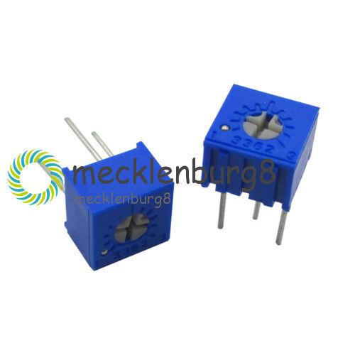10PCS 3362 P 10K ohm 3362P-103 High Precision Variable Resistor Potentiometer S