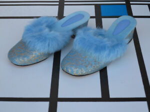 Slippers Boutique Pantoffeln Pantolette Damen Hausschuh 70er True Vintage 70s Slipper