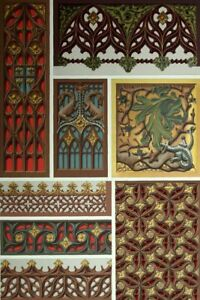 Antiques Style Renaissance Decoration Ornament Lithograph 19th