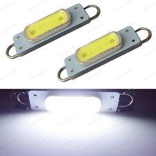 2 X Super Bright White 44mm Cob Rigid Loop Festoon Led Light 562 567 564 212 2