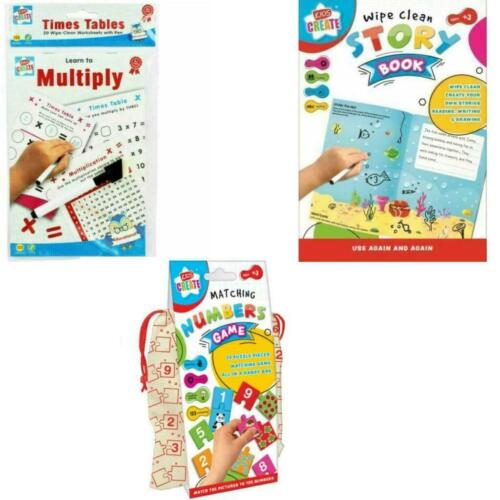 Kids Learn to Multiply math Matching Numbers Wipe Clean Story