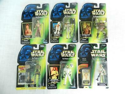 Lot of 10 Kenner Star Wars The Power of The Force Action Figures Han Solo Baba