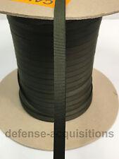 "5 YARDS OF 3/8"" Inch Webbing Binding Ribbon MIL-T-5038H Grosgrain RANGER GREEN"