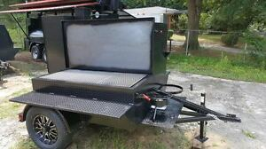 Perfect-Draft-Blower-BBQ-Smoker-w-Grill-Trailer-Food-Truck-Catering-Concession