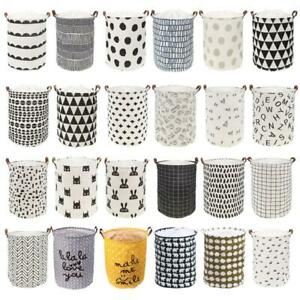 Folding-Canvas-Storage-Clothes-Basket-Closet-Box-Laundry-Toys-Books-Bag-Drawer