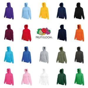 Fruit-of-the-Loom-Classic-80-20-Hoodie-Hooded-Sweatshirt