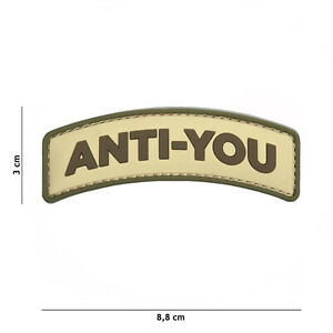 MéThodique Anti-you Coyote #9041 Patch Velcro Airsoft Paintball Tactical-afficher Le Titre D'origine Les Couleurs Sont Frappantes