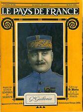 Portrait Amédée Henri Guillemin Général de division du général Lyautey 1918 WWI