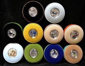 2015-NIUE-1-FINE-SILVER-COIN-COLLECTION-10-SET-COIN-ENDANGERED-ANIMAL-SPECIES